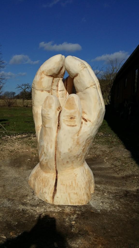 """""""Hände"""" Ahorn, 1,5 m Höhe, 2015"""
